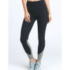 Highwaist Contrast Piping Colorblock Workout Leggings