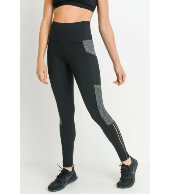 Highwaist Diamond Mesh Full leggings