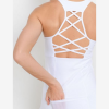 Lattice Performance Mesh Pocket Tank Top - Closeup